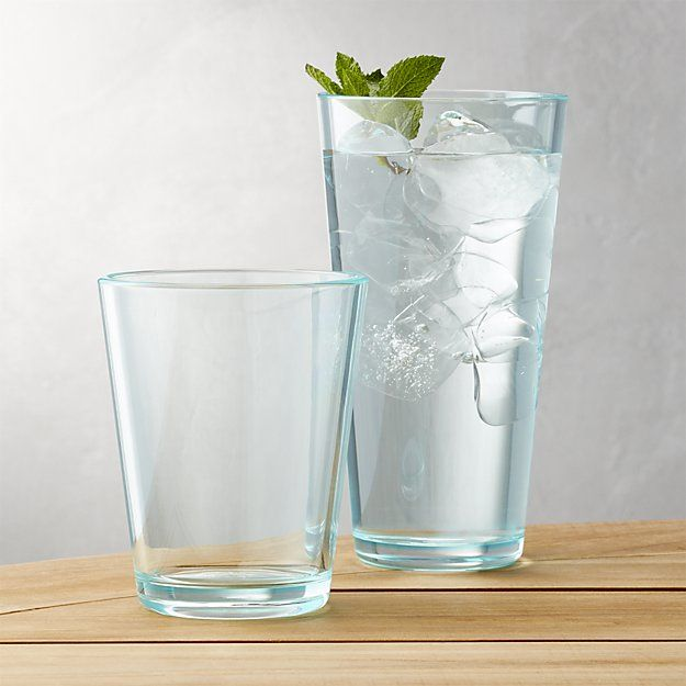 Pop Aqua Acrylic Drink Glasses Crate And Barrel Acrylic Drinkware Glasses Drinking Acrylic Glasses