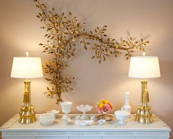 Top Trends Innendesign golden deko lampe Interior Design - wanddeko für schlafzimmer