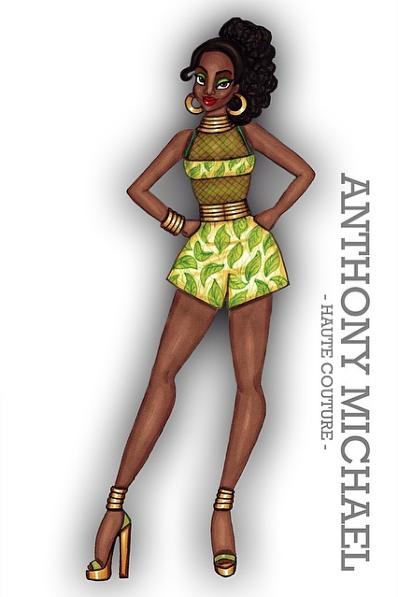 Tiana (Fashion by Am_Anthony_Michael @Instagram) #ThePrincessAndTheFrog