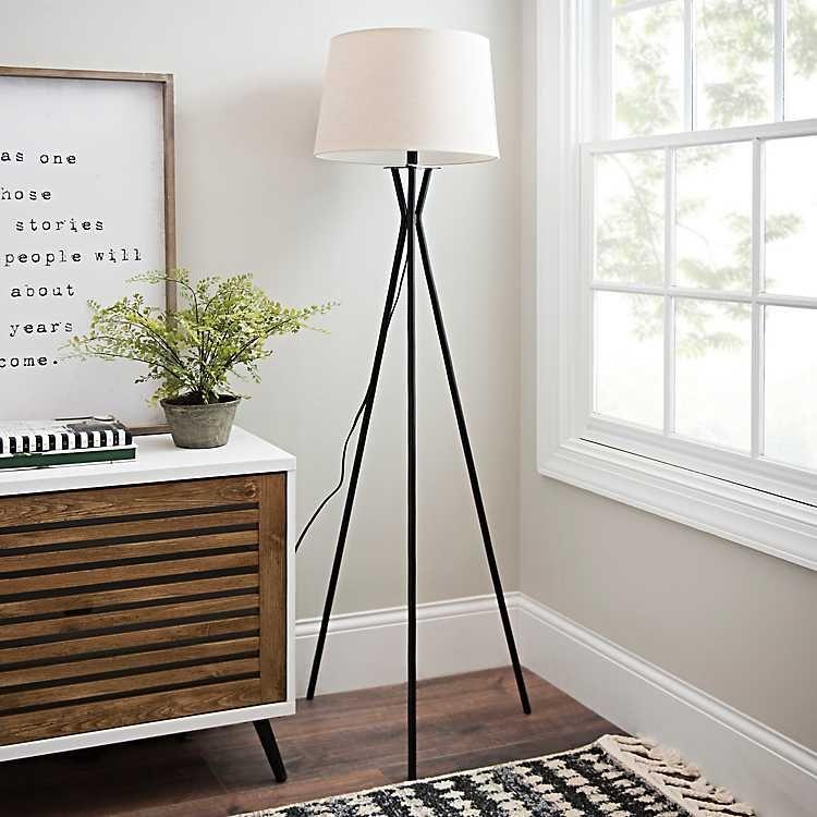 Modern Black Tripod Floor Lamp Black floor lamp, Modern