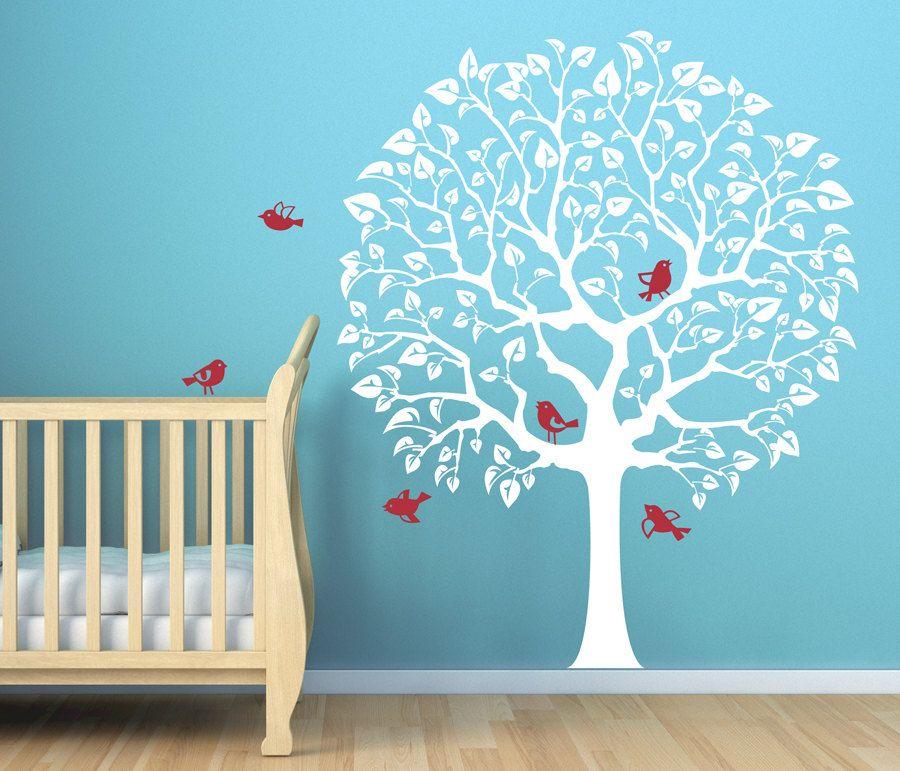 Cute nursery decal for babys room original tree wall decal sticker for baby nursery room