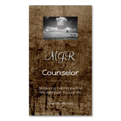 Monogram Counselling Services Leather Effect Business Card Zazzle Com Business Card Template Psychology Business Card Counselor Business Cards