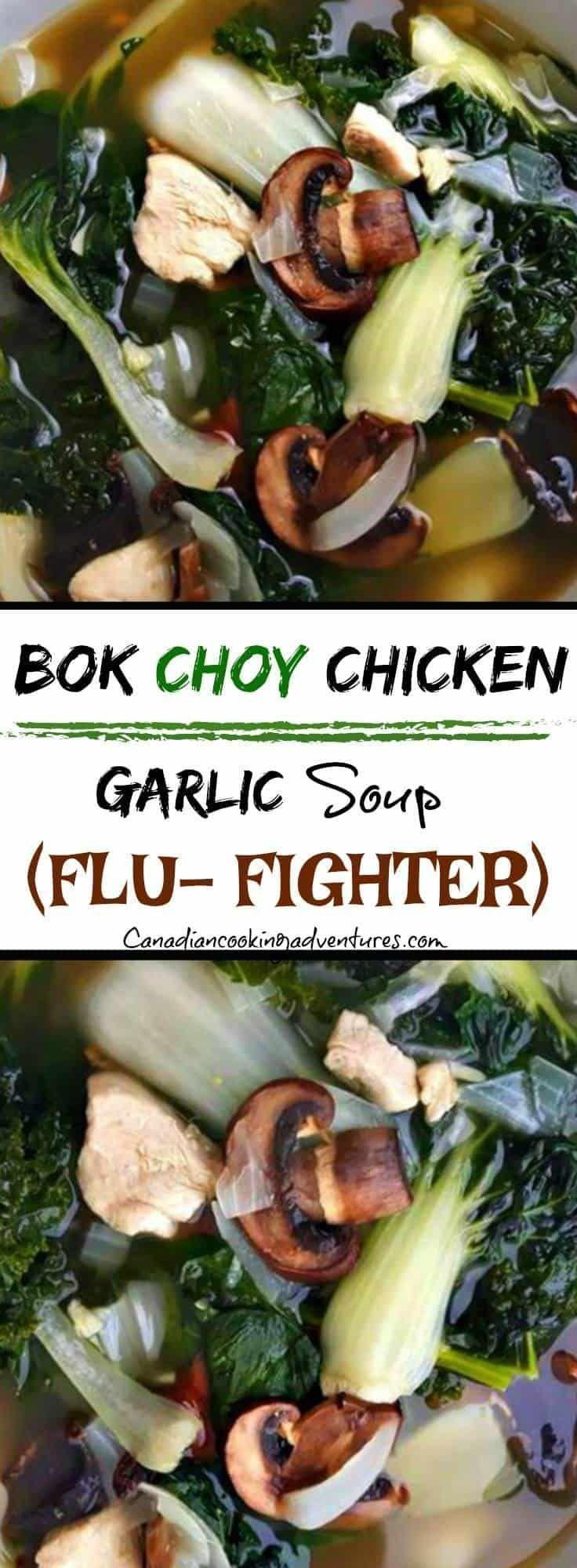Bok Choy Chicken Garlic Soup (Flu-Fighter) #recettesympa