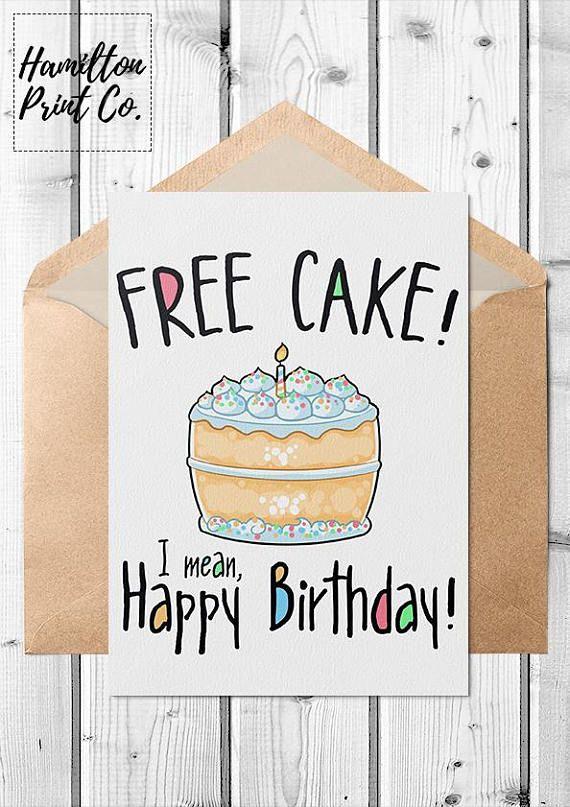 Printable Funny Kawaii Birthday Card Everyone Loves Free