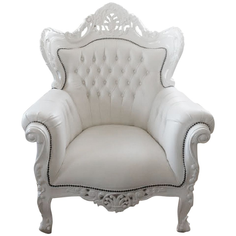 Superieur French Armchair, Large French Louis XV Rococo Style White Armchair | From A  Unique Collection Of Antique And Modern Armchairs At ...