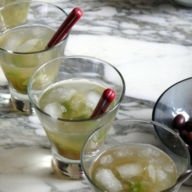 An understated cocktail party makes for a simple reception.