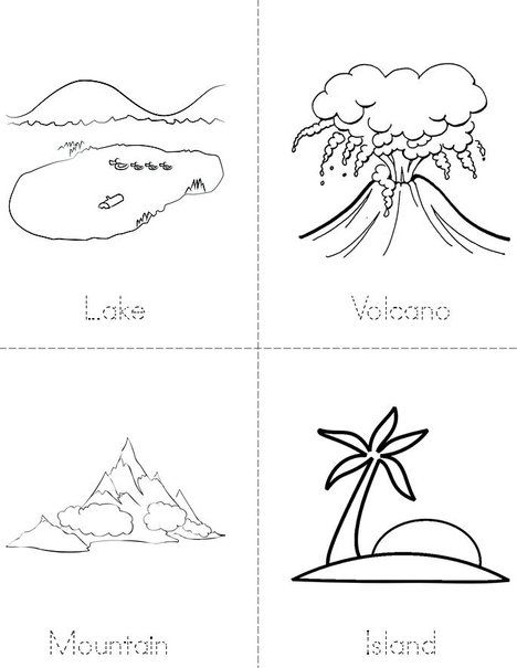 My Landforms Book Mini Book Landforms Worksheet Kindergarten Worksheets Kindergarten Worksheets Printable