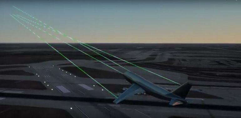 The ALTACAS system scans during takeoffs and landings