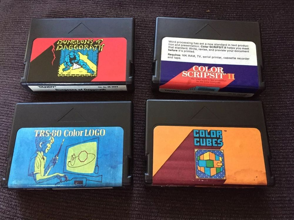 Details about Color File II COMPLETE CIB Tandy TRS80