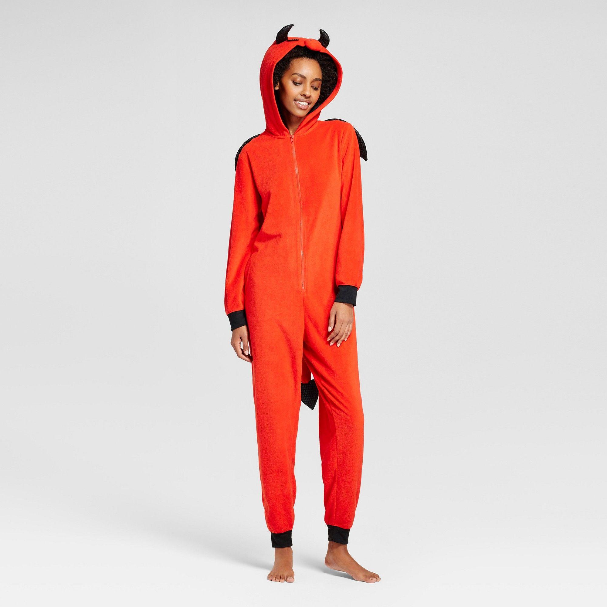 f23f48d5fb8486 Women's Devil Union Suit with Wing - Xhilaration Red Xxl, Orange ...