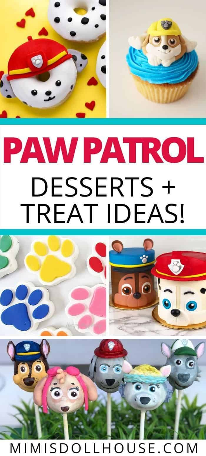 Paw Patrol Cakes, Desserts + Food Ideas - Paw patrol cake, Paw patrol party food, Paw patrol cupcakes, Paw patrol cake pops, Paw patrol birthday cake, Paw patrol cookies - Delicious Paw Patrol Cupcakes, Cakes + More! Planning the perfect PAWty  Creative and adorable Paw Patrol food ideas will save the day