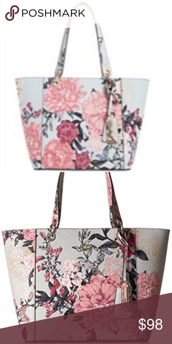 Guess Kamryn Floral Large Tote Large Sized Bag 16 1 2 W X 10 1 2