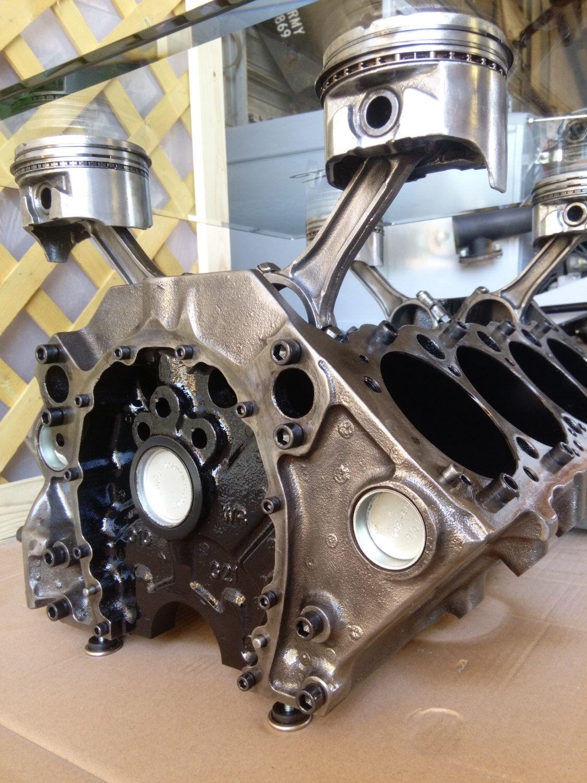 The Engine Room Design: Engine Block Table Chevy Chevrolet SBC V8 Car Part