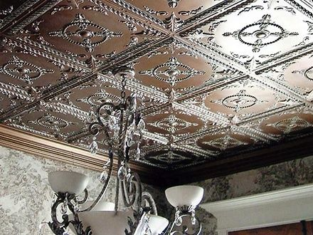 Pressed Tin Ceiling Tile Install Over Existing Ceiling Tiles