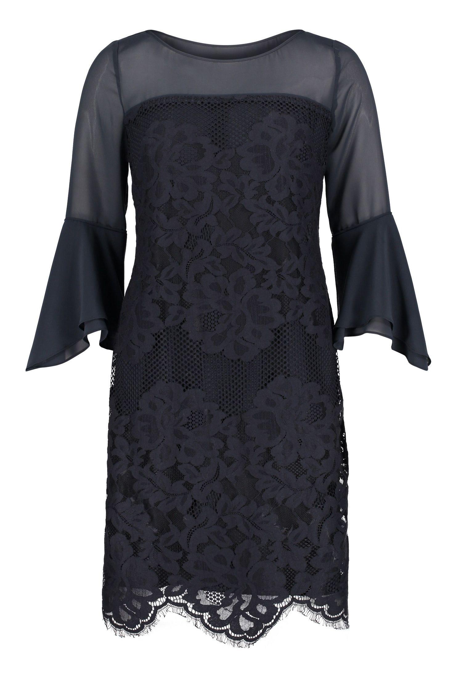 Kleid mit Ärmeln • Figurumspielendes Kleid aus toller Ware von
