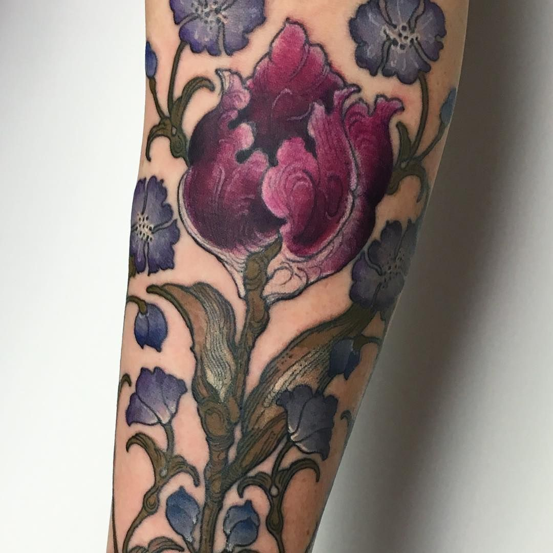 ~ Victorian floral things ~   Gorgeous tattoos, Beautiful ...  Victorian Flower Tattoo
