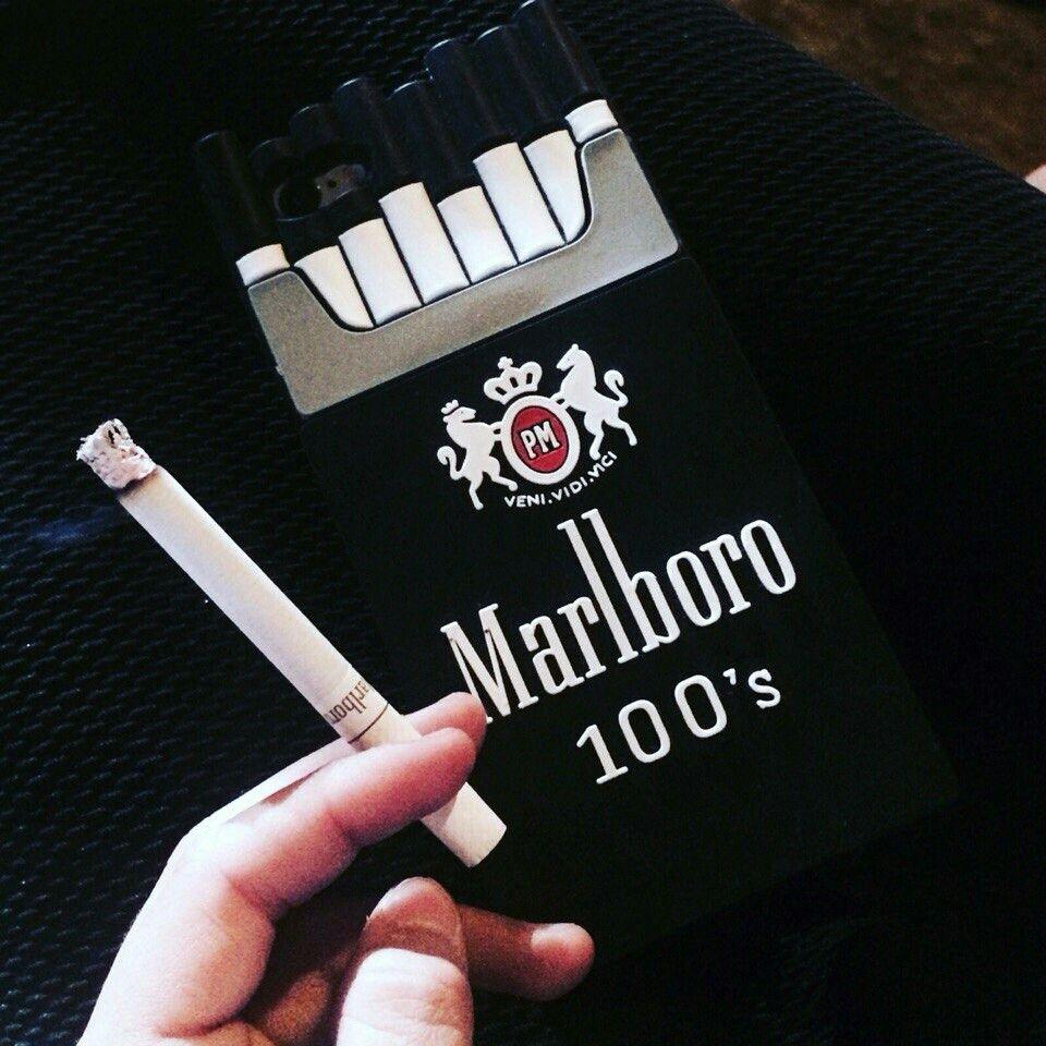 Marlboro 100's stuff to buy/try Fumaça, Preto e The