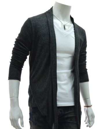 The Lees Men's Slim Fit Knitted Shawl Cardigan