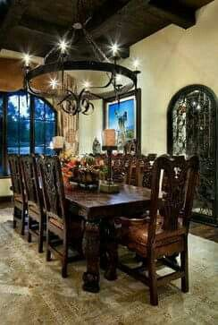 Pin By Gagan Sidhu On Dining Table Mexican Dining Room Dining