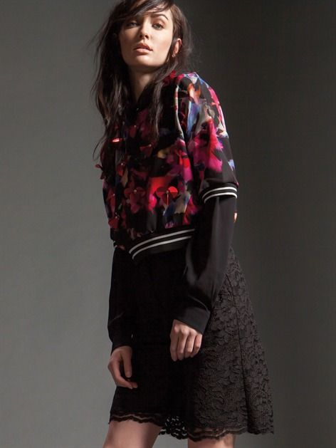 Naughty Dog FW1516 blouse and lace bermuda