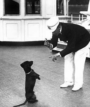 Emperor Wilhelm Ii And His Dachshund Erdmann On The Imperial