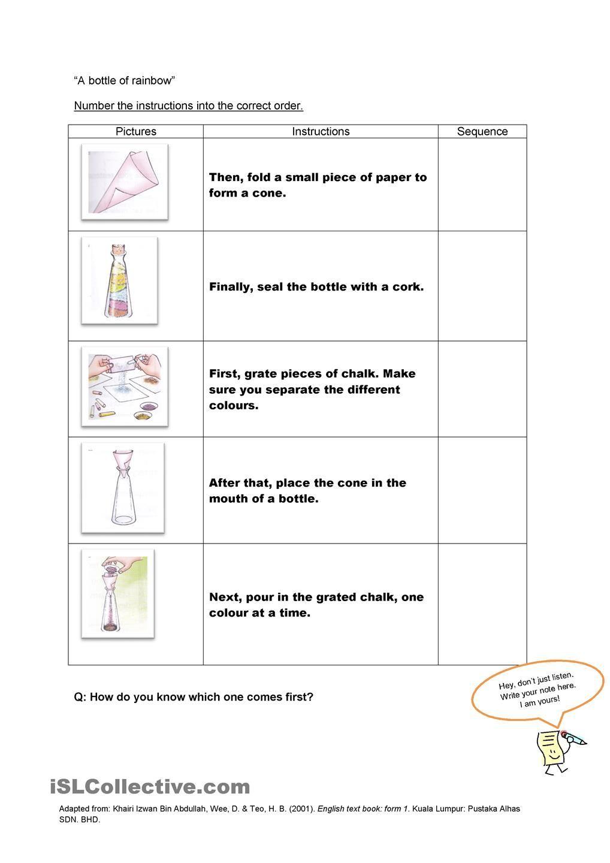 worksheet Procedural Text Worksheets linking words writing simple instructions worksheet free esl printable worksheets made by teachers