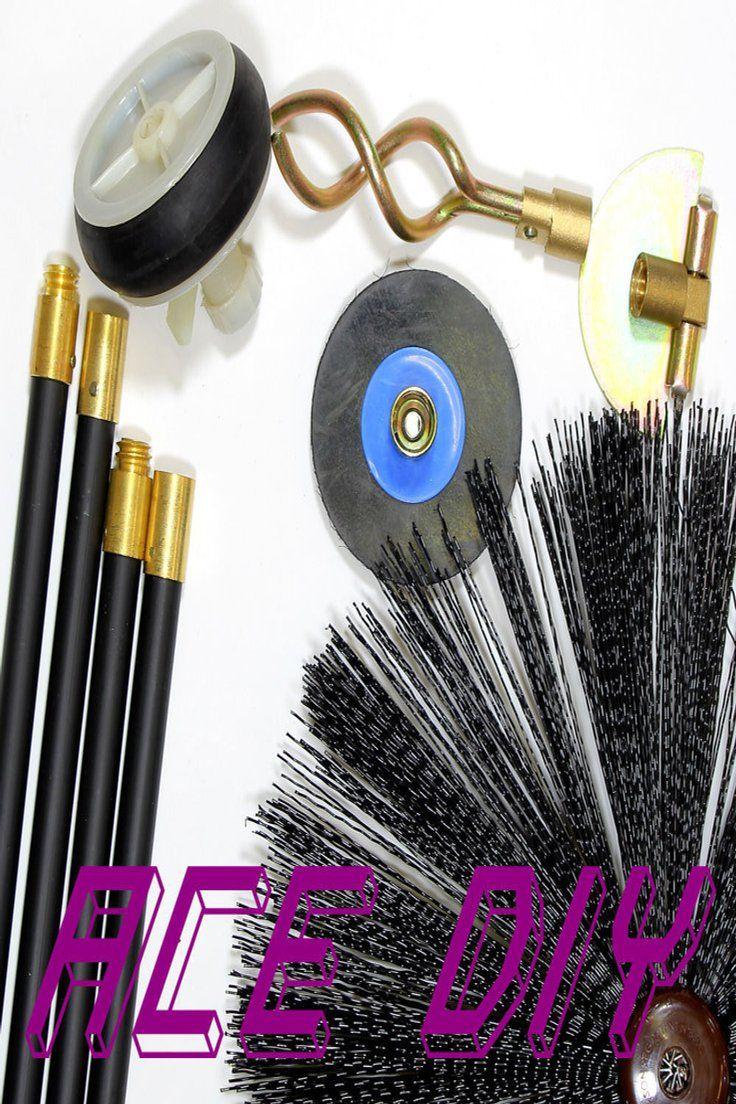 595740 Silverline Chimney Brush Head 400mm Chimney Brush Drain Rods Plumbing