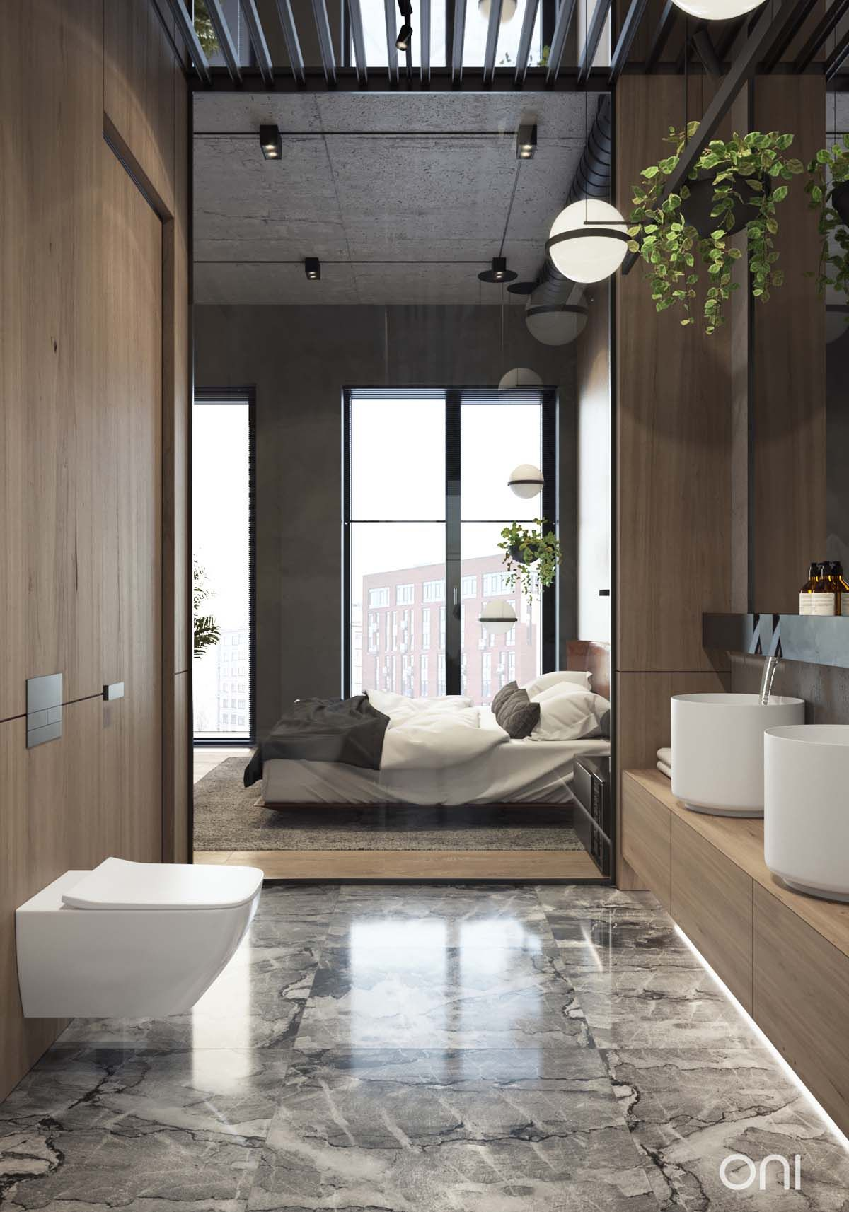 Loft bedroom with ensuite  Pin by Arwa Dawoud on Bathrooms  Pinterest  Interiors Bedrooms