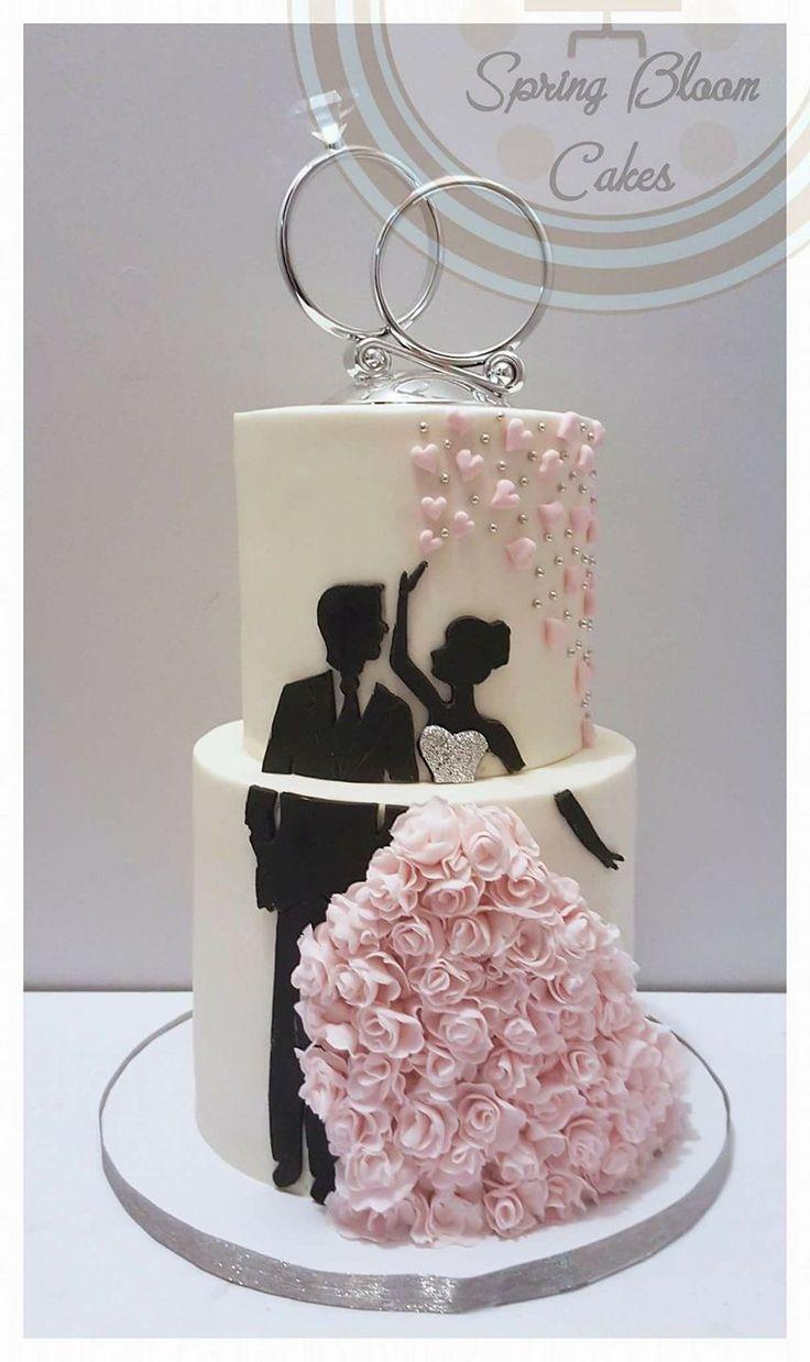 Eye Catching Spring Wedding Cake Ideas To Blow Your Mind Away Spring Wedding Cake Silhouette Cake Pretty Wedding Cakes