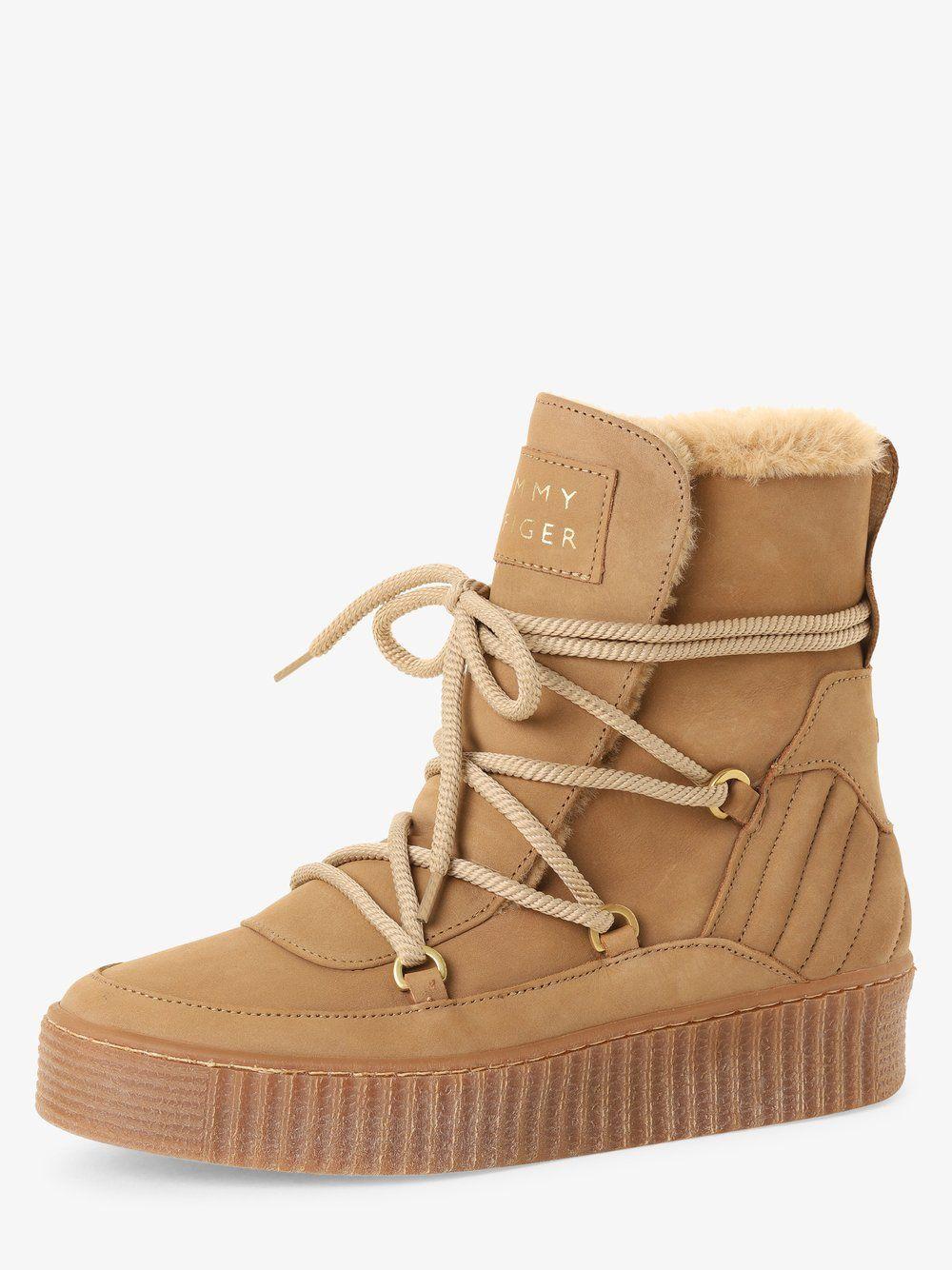 Damen Boots Aus Leder In 2020 Tommy Hilfiger Boots Boots Tommy Hilfiger
