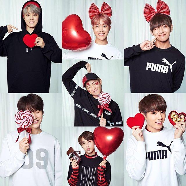 Bts X Puma Valentine S Day Bts Pinterest Bts Bts