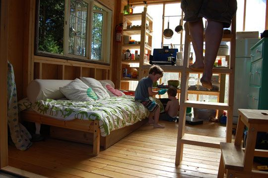 Four People (and a Dog) Living in 180 Square Feet Cabin, Square