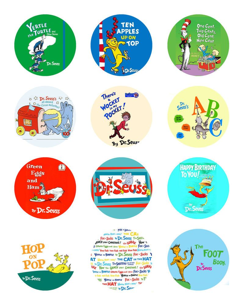 Customized Dr Seuss Lorax Cat In The Hat Grinch Book