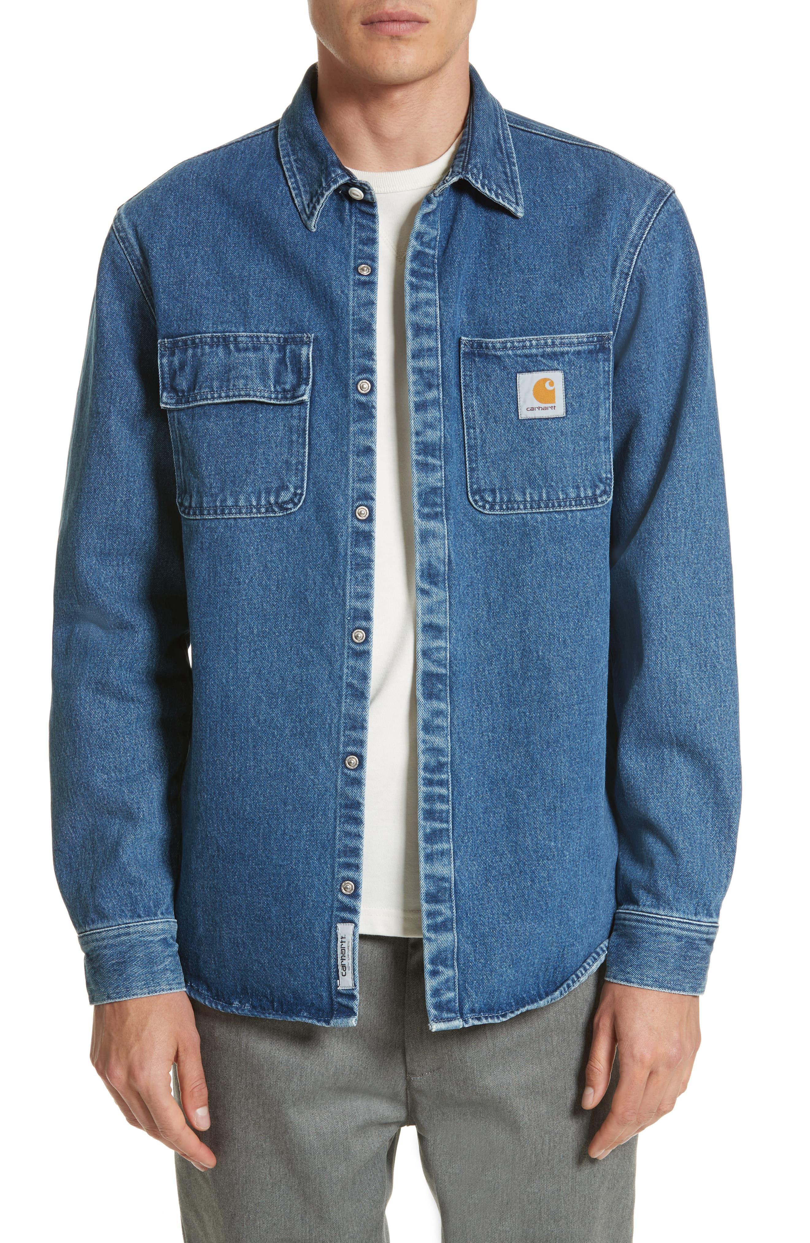 Carhartt Work In Progress Salinac Shirt Jacket Nordstrom Carhartt Denim Jacket Shirt Jacket Men Carhartt Jacket [ 4048 x 2640 Pixel ]