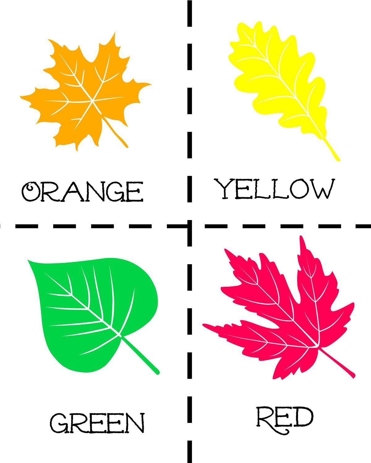 Fall Leaf Scavenger Hunt Activity With Free Printable