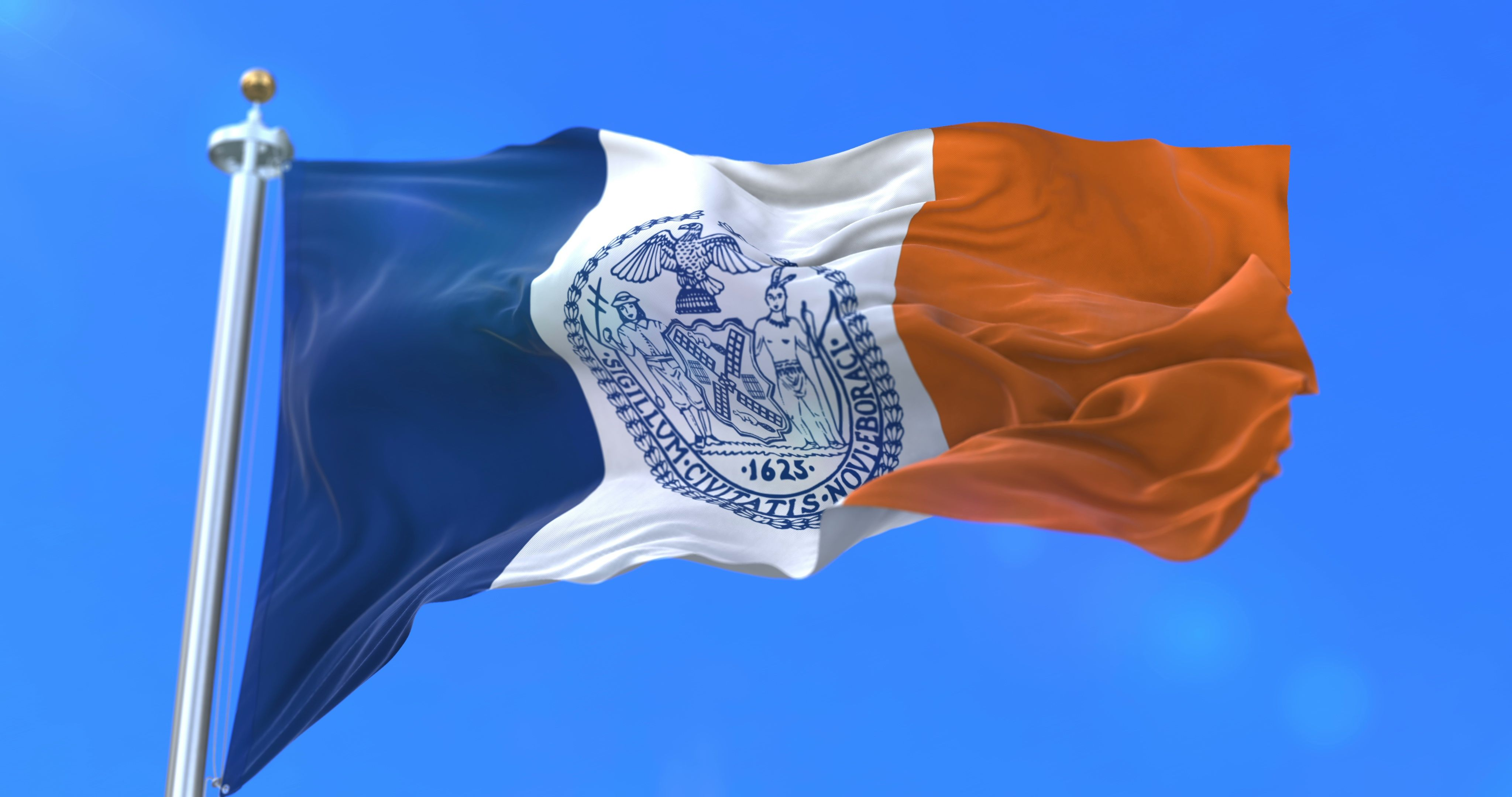 Flag Of New York City City Of United States Of America Loop Stock Footage City United Flag York New York City States In America The Unit