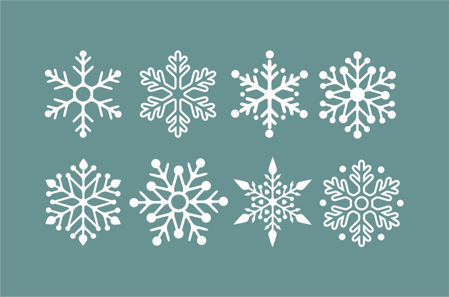 Snowflake Wall Decals, Winter Holiday Decorations, Snow Flake Stickers,  Vinyl Stick On Snow