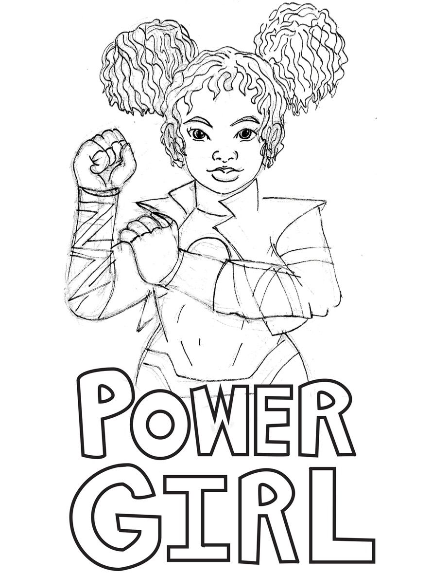 Empowering Female Superheroes Coloring Pages