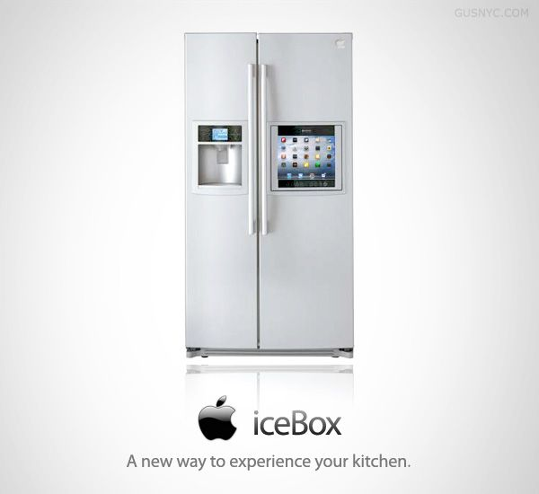 icebox the apple fridge with ios icloud itunes store connection facetime wifi bluetooth. Black Bedroom Furniture Sets. Home Design Ideas