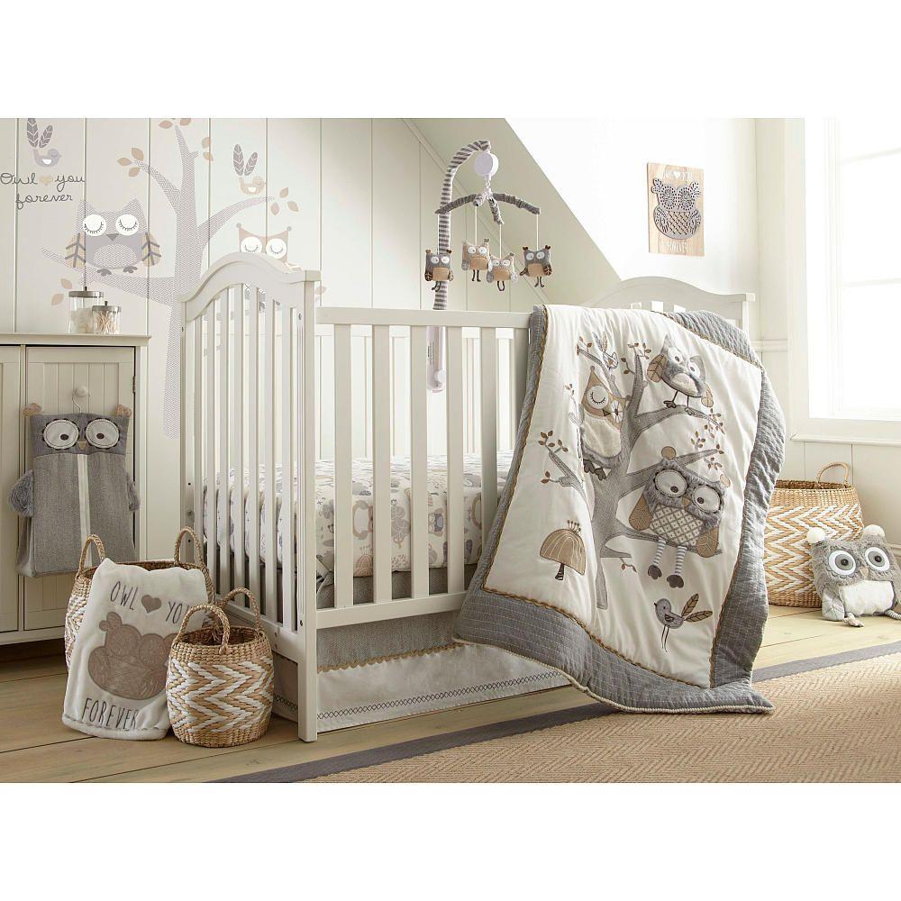 Levtex Baby Night Owl 5 Piece Crib Bedding Set
