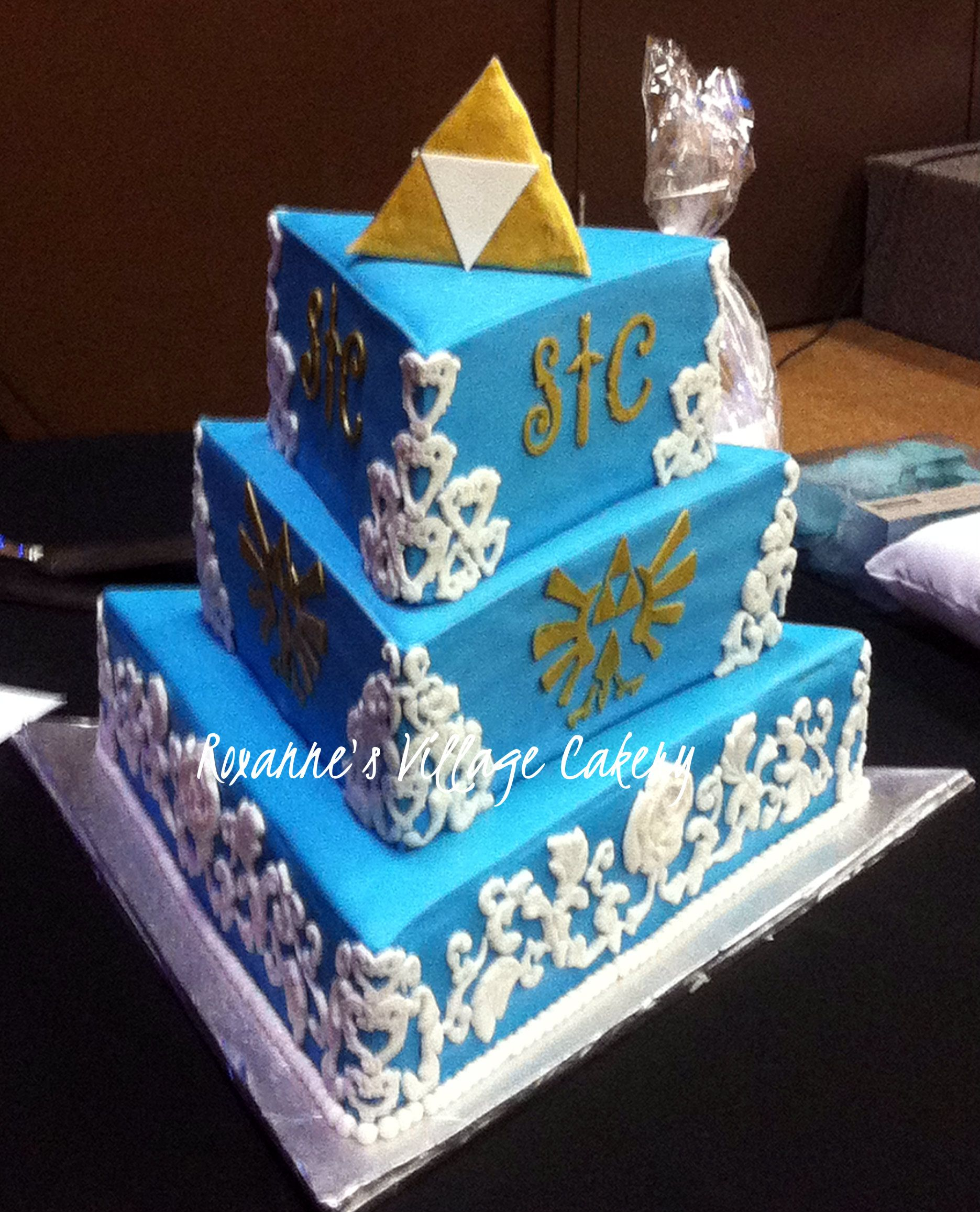 Zelda triforce wedding cake awe pinterest wedding cake cake zelda triforce wedding cake biocorpaavc Image collections