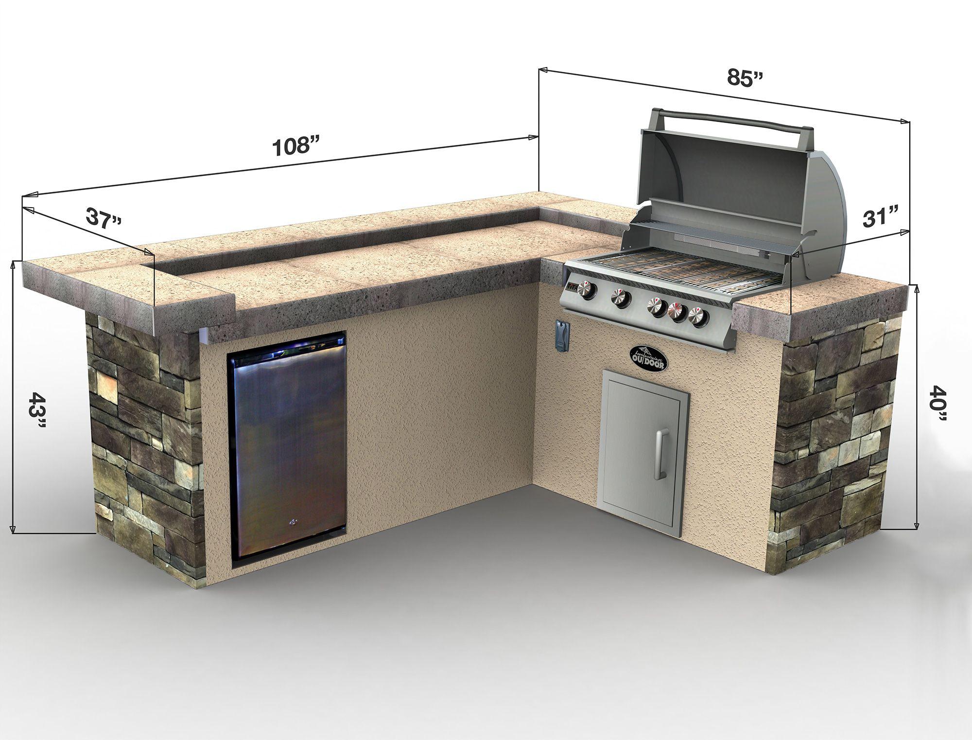 Patio Furniture Asadores De Patio Cocina Exterior Area De Barbacoa