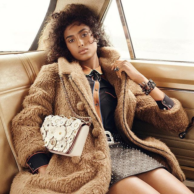 @imaanhammam looking gorgeous in #CoachPreFall2016 #Coach1941 (: #StevenMeisel)