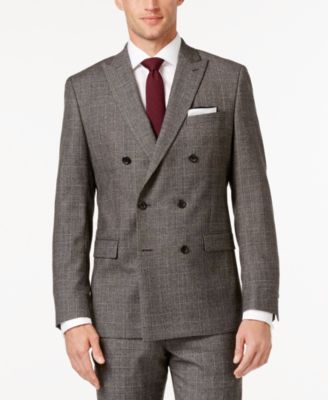 MICHAEL Michael Kors Men's Classic-Fit Black and Beige Glen Plaid Double Breasted Suit $299.99 Add a double-breasted option to your arsenal of sophisticated essentials with this suit from MICHAEL Michael Kors, featuring a classic fit tailored in fine wool and a smart glen plaid pattern.