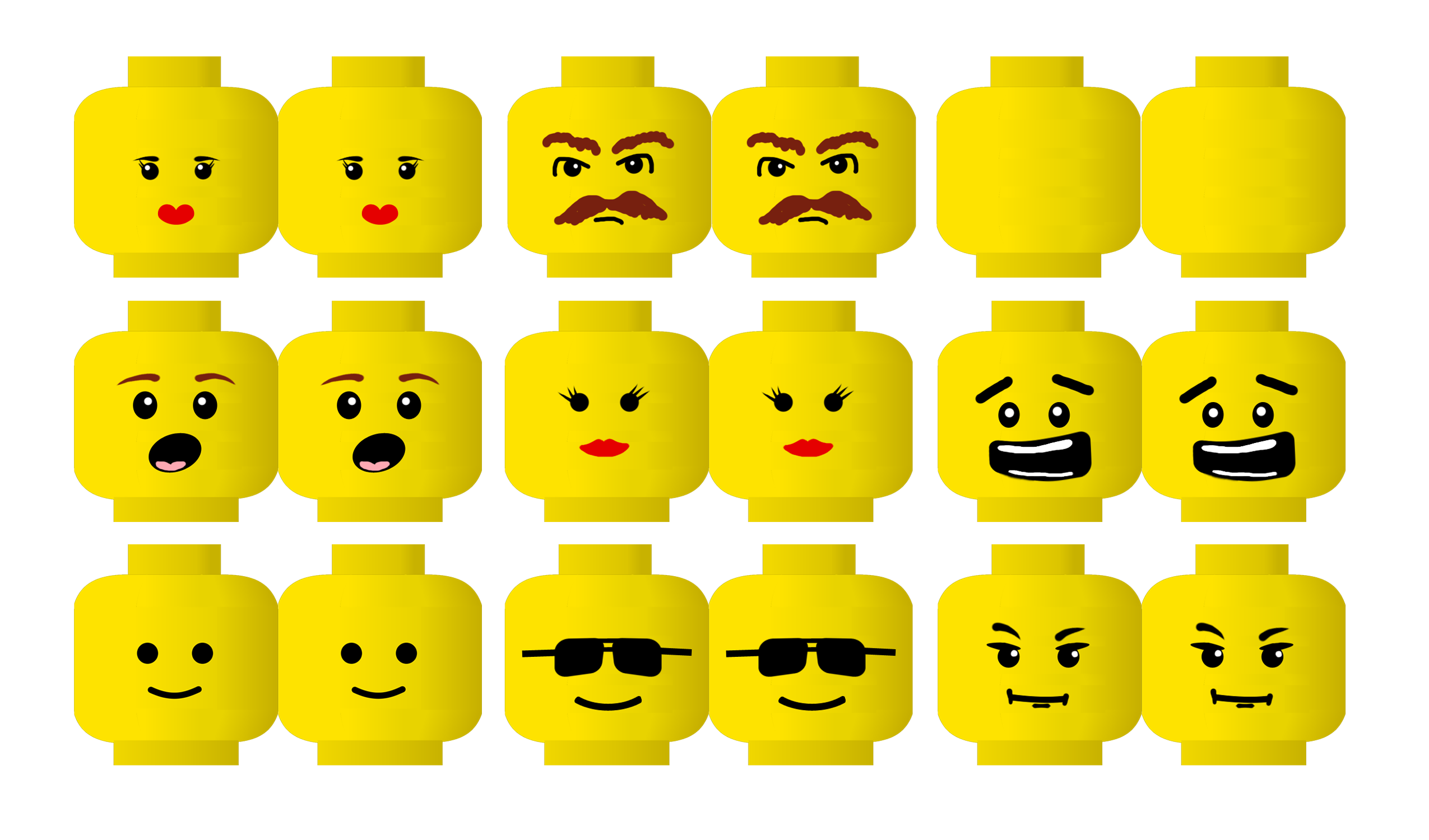 photograph regarding Lego Head Printable identified as lego minifigure brain printable - Google Glimpse Coloration my