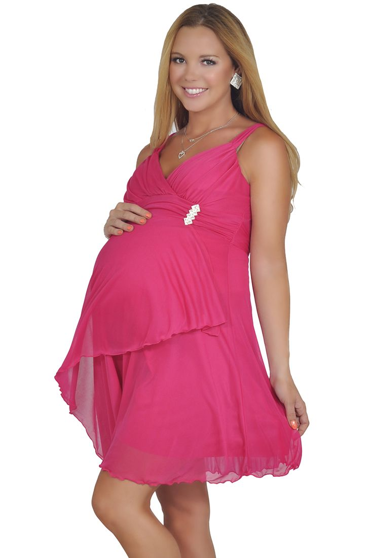 d5638cadd961 maternity-flowy-knee-high-v-neck-halter-short-pregnant-party-dress ...
