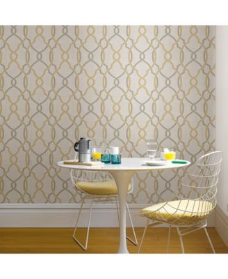 Sausalito Taupe Or Yellow Peel And Stick Wallpaper Peel