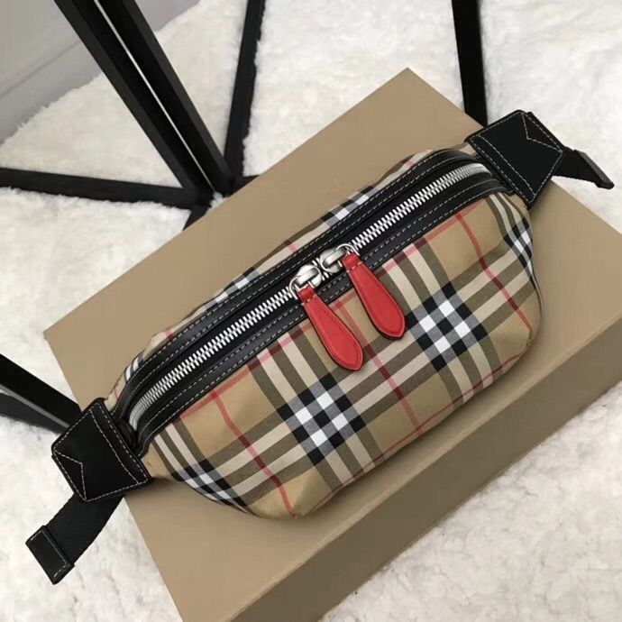 404ea74df4d Burberry Vintage Check and Red Leather Bum Bag 2018   Burberry Bags ...