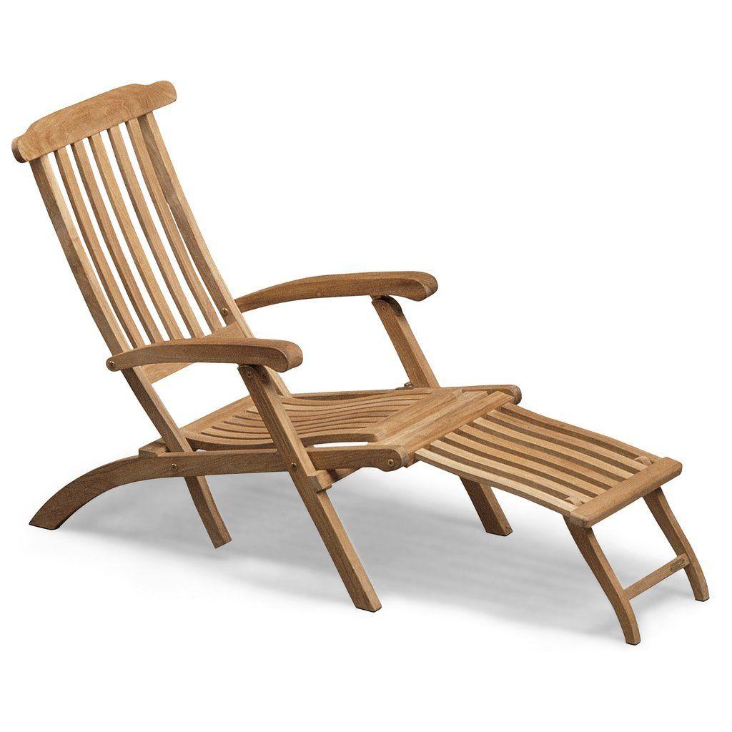 Skagerak Steamer Deck Chair Teak Deck Chairs Teak Patio