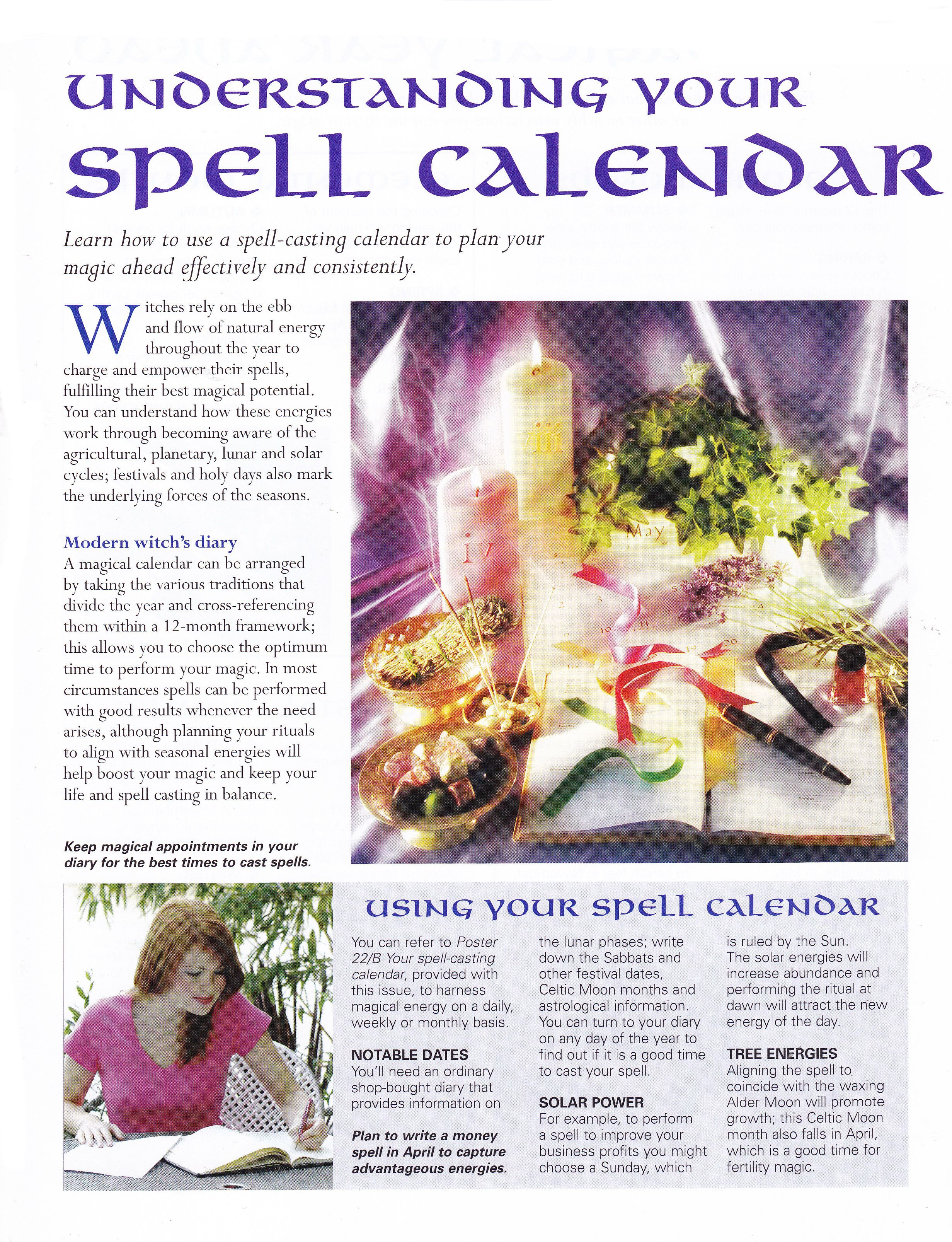 Understanding Your Spell Calendar Pinned By The Mystic S Emporium